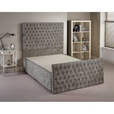 Quilted Bed Frame Provincial Fabric Upholstered Bed Frame Next Day Select Day