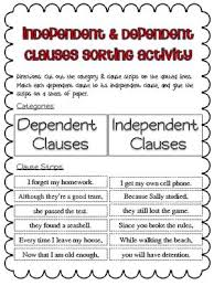 printables dependent and independent clauses worksheets eleaseit