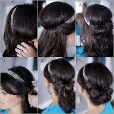 Hochsteckfrisuren Zum Selber Machen by 25 Parasta Ideaa Pinterestissä Frisuren Mit Haarband Anleitung