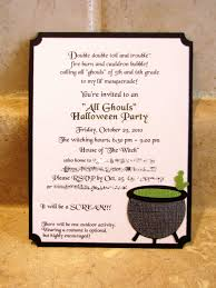 Making Invitation Card Halloween Party Invite Wording To Inspire You Thewhipper Com