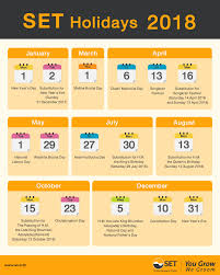 Market Holidays Thailand S Stock Market Calendar For 2018 Markets
