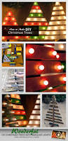 diy christmas trees with marquee lights diy outdoor christmas