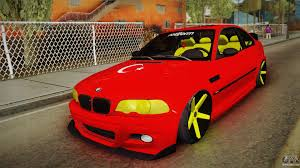 red bmw e46 bmw m3 e46 for gta san andreas