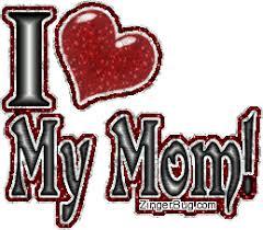 Love My Mom Meme - i heart my mom glitter text glitter graphic greeting comment meme