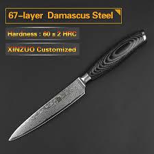 Damascus Steel Kitchen Knives Xinzuo 5pcs Kitchen Knives Set 67 Layer Japanese Vg10 Damascus