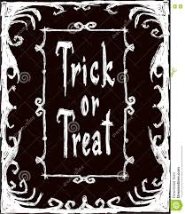 trick or treat halloween card stock vector image 73895708