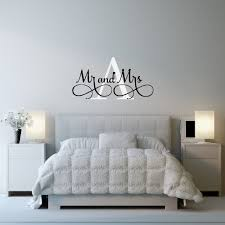bedroom mr mrs wall stickers custom name vinyl wall decals