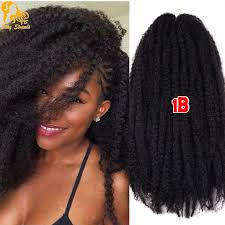 ombre marley hair afro kinky twist hair crochet braids 12 colors ombre marley braid