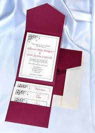 wedding invitations burgundy pocket wedding invitation kits wedding bell