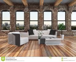 modern loft style living room interior stock illustration image