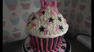 giant cupcake tutorial youtube