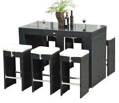 Patio Furniture Bar Set Awesome Bar And Stool Sets Best 5 Wicker Bar Sets Outdoor