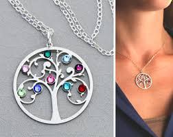 tree necklace etsy