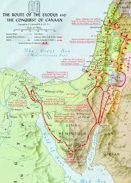 Map Og Sinai Peninsula Exodus