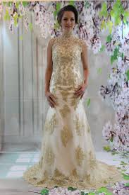 gold wedding dresses gold wedding gown archives the bad