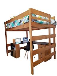 Double Loft Bed With Special Combination Large Corner Desk - Large bunk beds