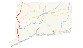 road map connecticut usa u s route 7 in connecticut