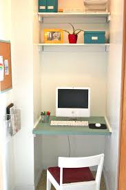 Small Computer Desks For Small Spaces Furniture Green Stained Wooden Floating Desk Wall Mount