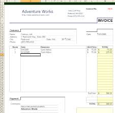 Excel Invoice Template 2003 Building An Excel 2003 Invoice Application Visual Studio