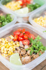 butterball seasoning turkey taco meal prep bowls the happy flammily