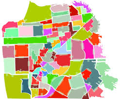Maps Of Chicago Neighborhoods by S F Neighborhoods Change Names To Map Out New Identity Sfgate