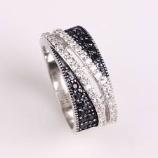 wedding rings philippines with price aliexpress buy 2017 women black zirconia wedding ring
