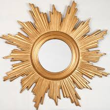sunburst mirror finished in gold leaf mirror image home