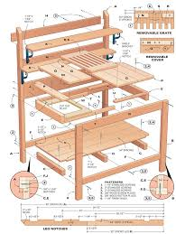 Plans For Making A Garden Table by 25 Best Potting Bench Plans Ideas On Pinterest Potting Station