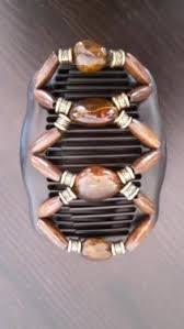 Hochsteckfrisuren Unna by Haarschmuck Hochsteckfrisur Haarklammer Perlen Gold Braun Kamm