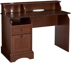 Wood Secretary Desk by Amazon Com Sauder Graham Hill Desk Autumn Maple Finish Kitchen