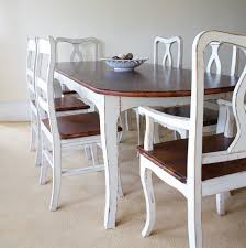 Dining Tables  Vintage Style Dining Chairs Distressed Blue Dining - Shabby chic dining room set