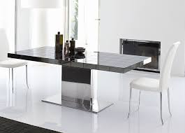 Black Extending Dining Table And Chairs Modern Extending Dining Table Dixie Furniture
