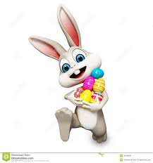 bunny easter easter bunny running with ages stock illustration illustration
