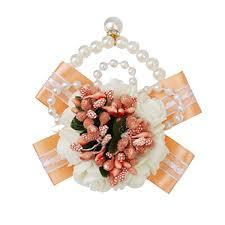Wrist Corsage Bracelet Imported Wedding Bridal Bridemaid Pearl Pink Wrist Corsage