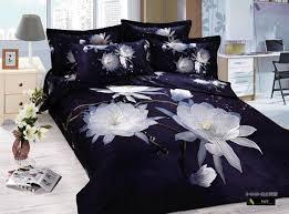 Lotus Bed Frame 3d Blue Floral Lotus Flower Bedding Set Size Duvet