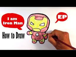 draw cute iron man captain america civil war easy
