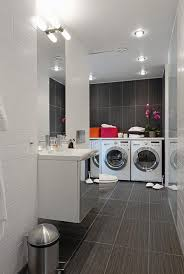 How To Decorate A Laundry Room Modern Laundry Room Decor Ideas With Flooring Tile Laundry