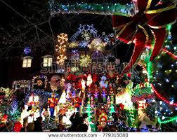 dyker heights christmas lights tour 2017 brooklyn new york december 20 2017 stock photo royalty free