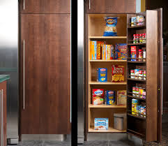awesome built in kitchen pantry cabinets featuring single door