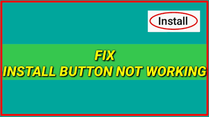 not working on android fix install button not working on android can t click on
