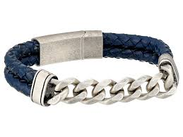 braided leather chain bracelet images Steve madden sandals steve madden stainless steel curb chain w jpg