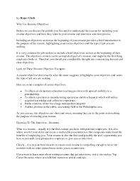 Best Resume Objectives Resume Template Great Sample Resumes Hotel Hospitality Examples