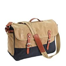 Rugged Purses J Crew Abingdon Messenger Bag In Two Tone In Natural For Men Lyst