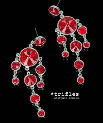 Red Chandelier Earrings Bella Crystal Chandelier Earrings
