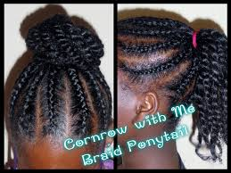 hair braided into pony tail 162 child hair care braided ponytail bun youtube