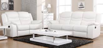 Electric Reclining Leather Sofa Blossom White Electric Reclining 3 2 Seater Leather Sofa Set