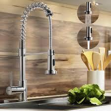 kitchen sink faucet sprayer constantine brushed nickel kitchen sink faucet with pull down sprayer