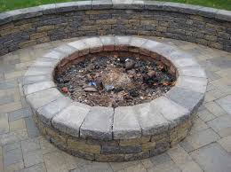 Backyard Stone Fire Pit by Outdoor Fire Pit Kits Stone Backyard Landscaping Photo Gallery