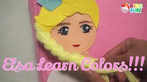 learn colors frozen elsa quiet book learn colors teach