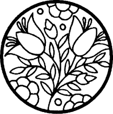 flowers in a circle coloring pages sheets coloring pages